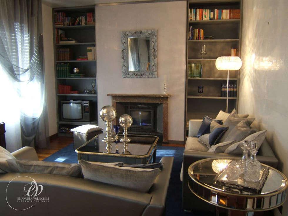 ATMOSFERE FASHION: Soggiorno in stile in stile Moderno di Emanuela Volpicelli Interior Designer