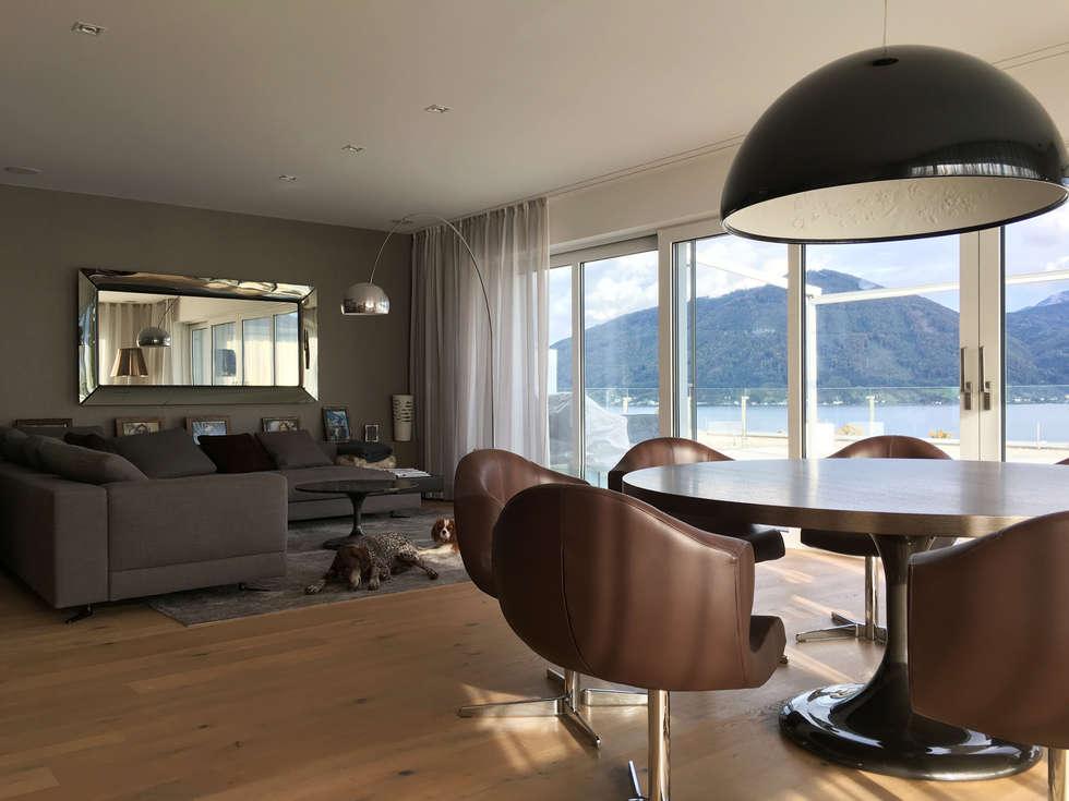 Wohnbereich Essbereich Lounge: Moderne Wohnzimmer Von Egg And Dart  Corporation GmbH U0026 Co.KG