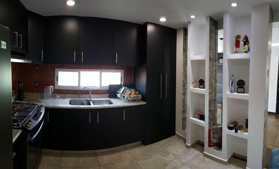 terminacin de acabados gabinetes cocina cocinas de estilo moderno por mirarq construccin
