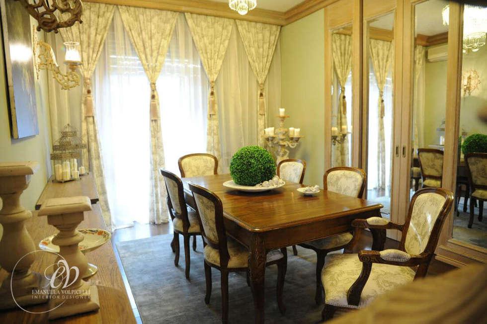 LUSSUOSA GRAZIA: Sala da pranzo in stile in stile Classico di Emanuela Volpicelli Interior Designer