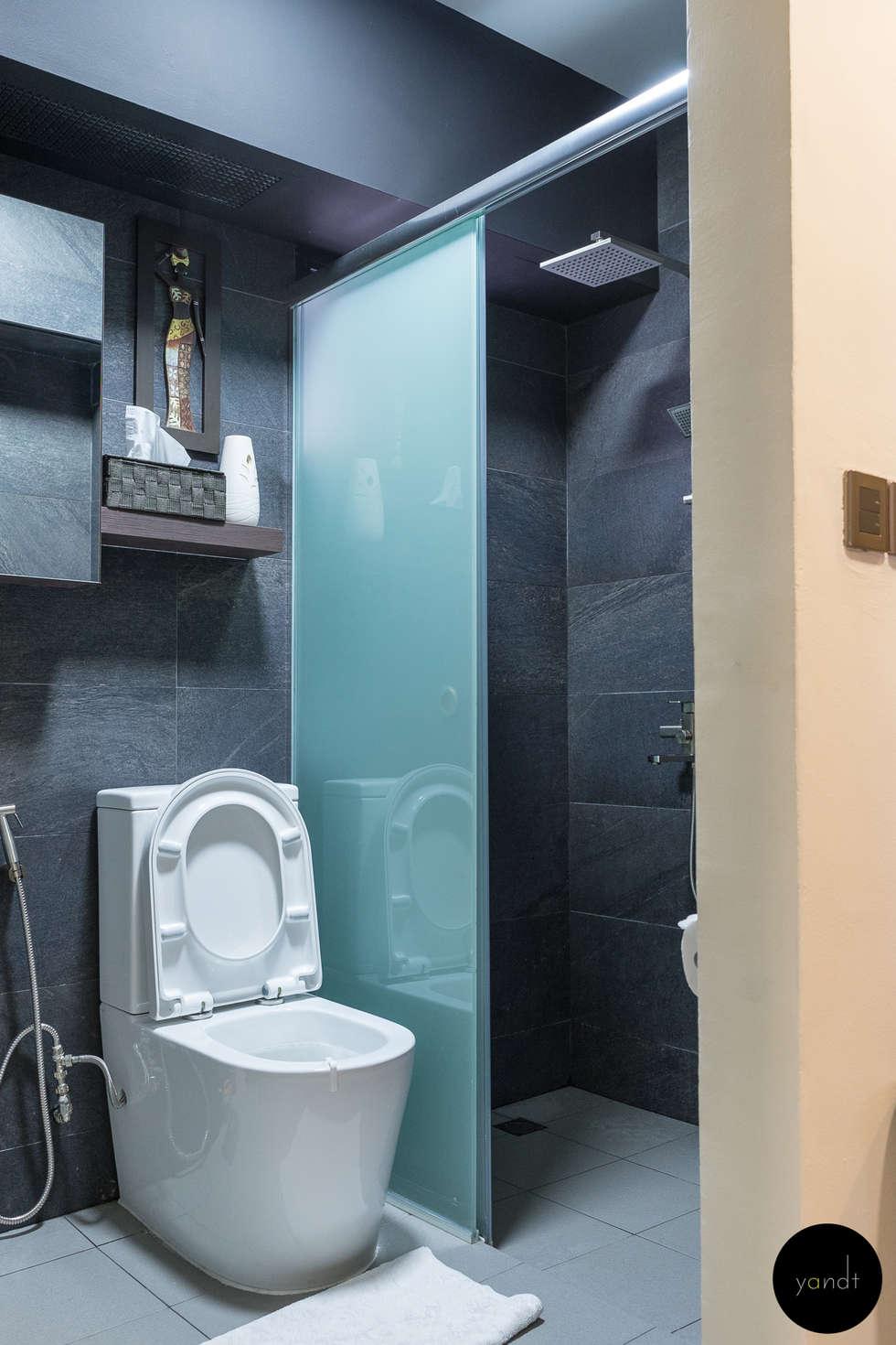 Common bathroom: asian Bathroom by Y&T Pte Ltd