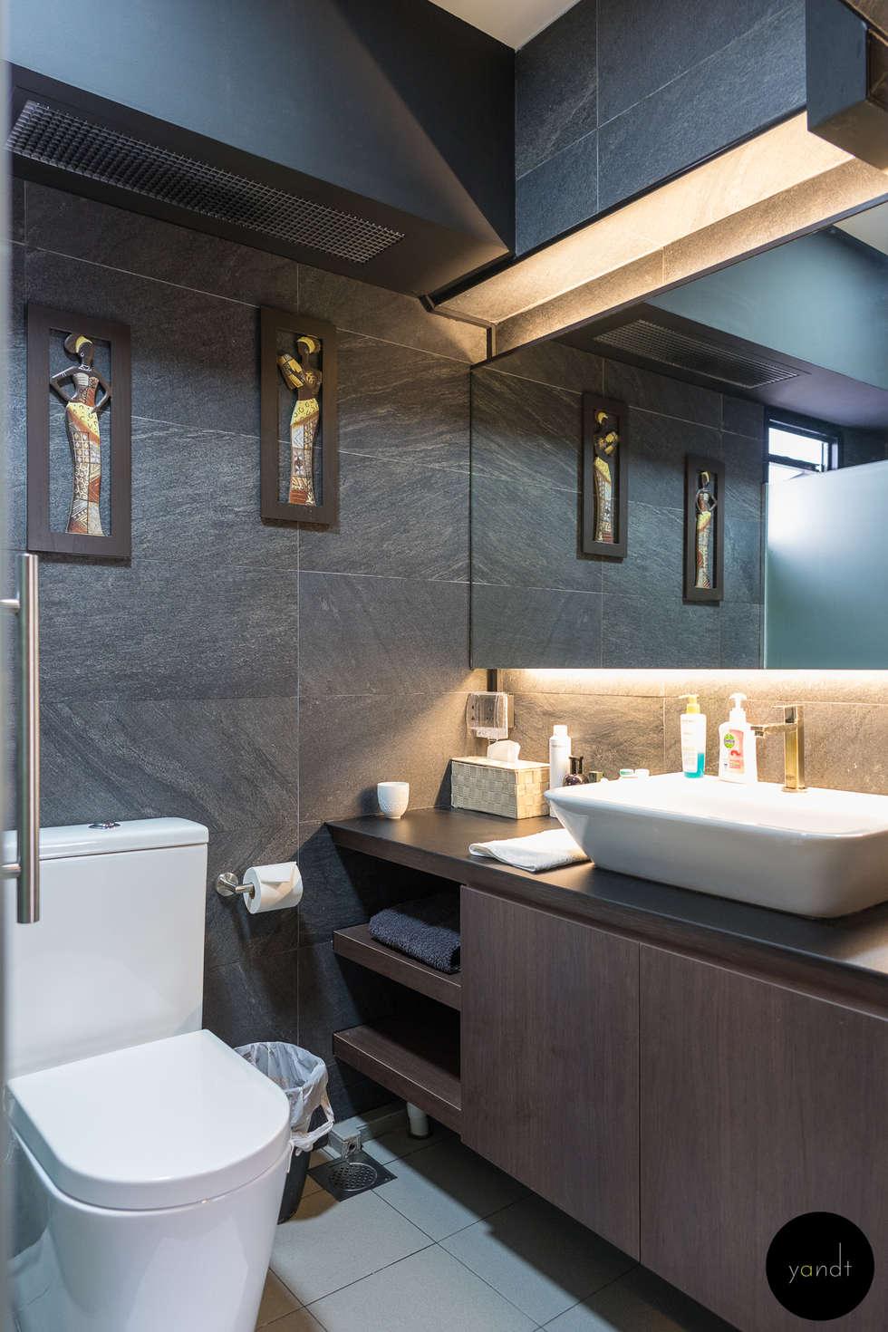 Master Bathroom : asian Bathroom by Y&T Pte Ltd