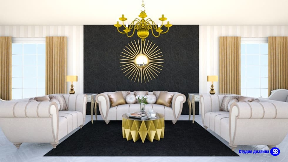 Living Room in Art-Deco style: classic Living room by 'Design studio S-8'