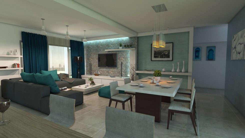 Dise o interior sala comedor comedor de estilo por for Diseno de interiores sala comedor