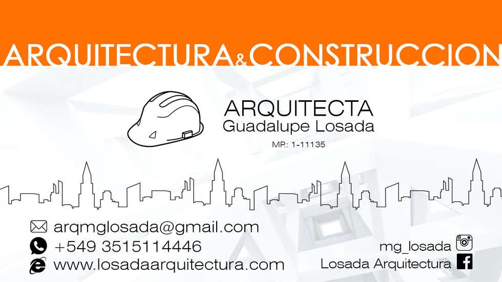 ARQUITECTURA Y CONSTRUCCION: Casas de estilo moderno por LOSADA ARQUITECTURA