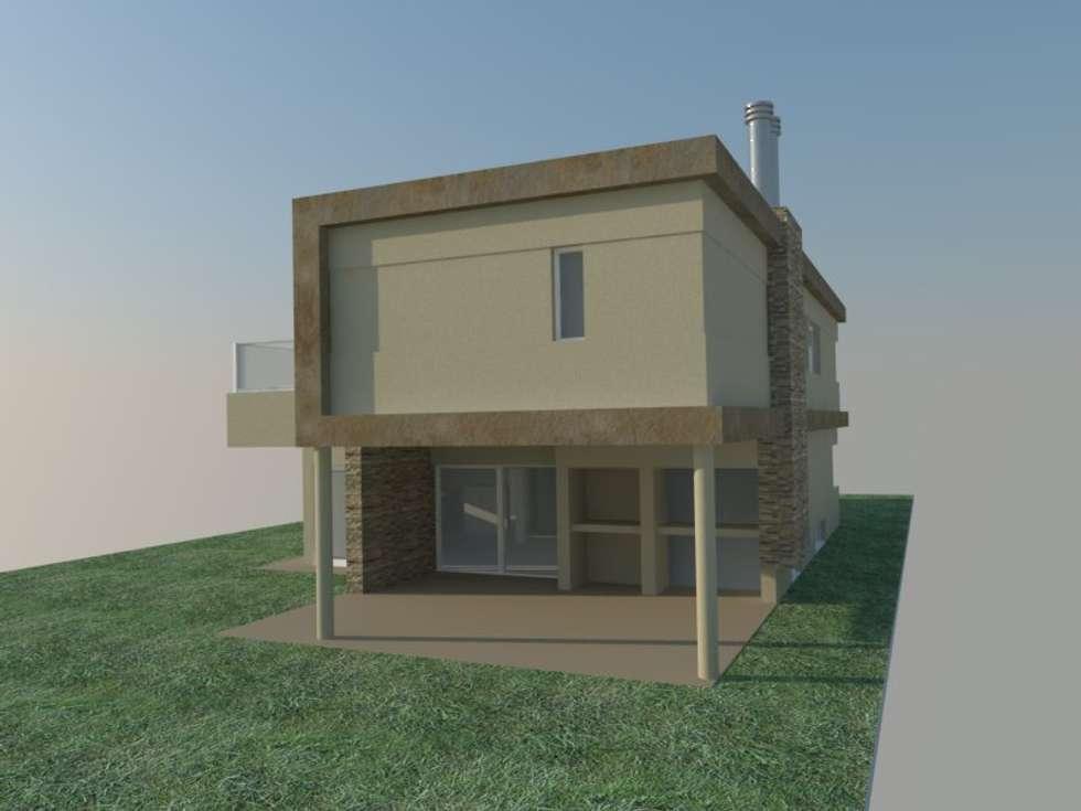 VIVIENDA MODERNA 200m2: Casas de estilo moderno por LOSADA ARQUITECTURA