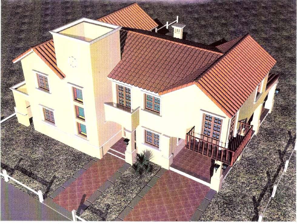 Proyecto de casa unifamiliar : Casas de estilo colonial por Valy