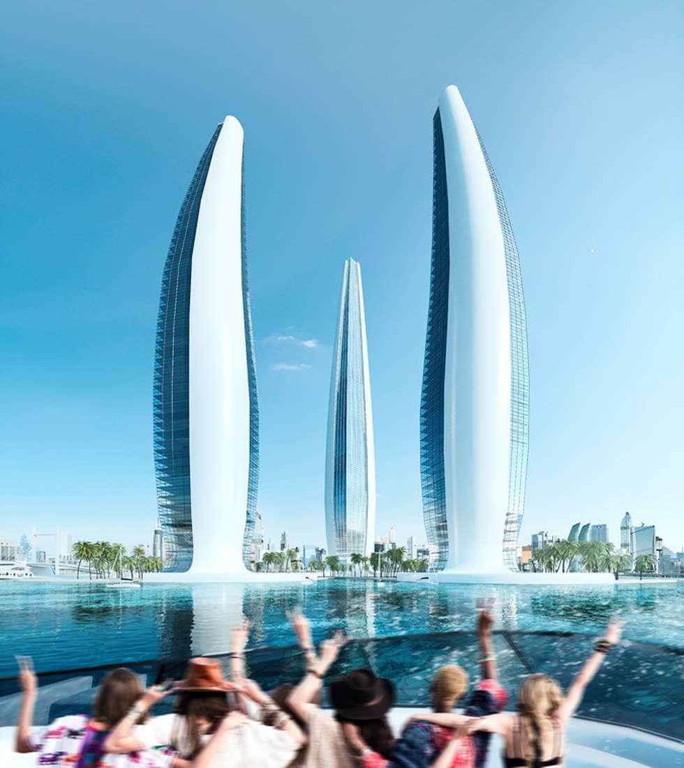 Architectural Rendering Services Wonstudios: Hoteles de estilo  por Wonstudios