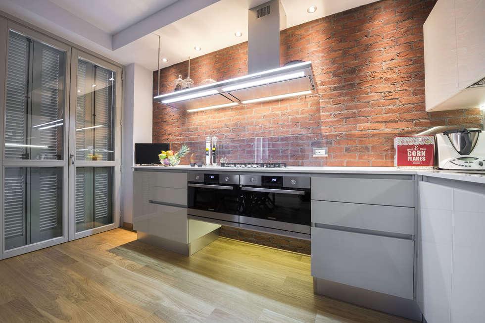 Mattoni cucina simple parete mattoni a vista cucina with mattoni cucina awesome cucina con - Cucina in mattoni faccia vista ...