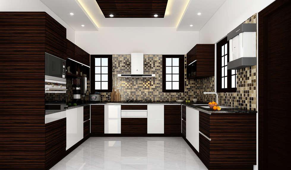 مطبخ تنفيذ Karigar Kreation Architects