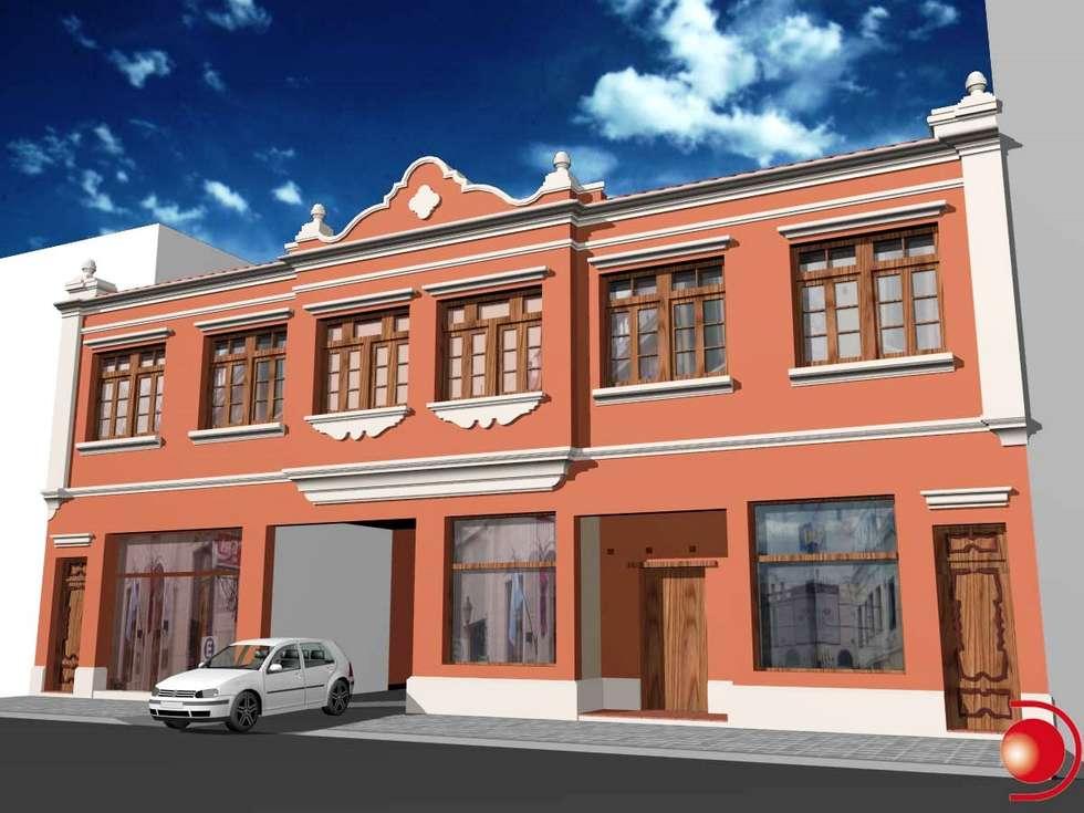 Proyecto de mejoramiento de fachada 2: Casas de estilo clásico por Valy