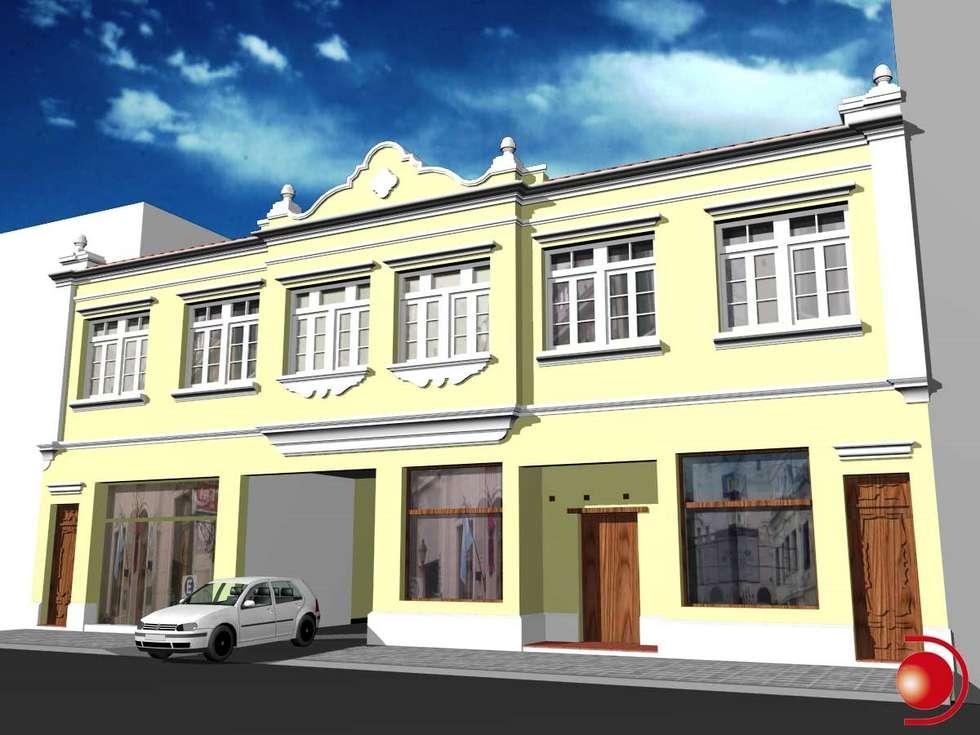 Proyecto de mejoramiento de fachada 4: Casas de estilo clásico por Valy