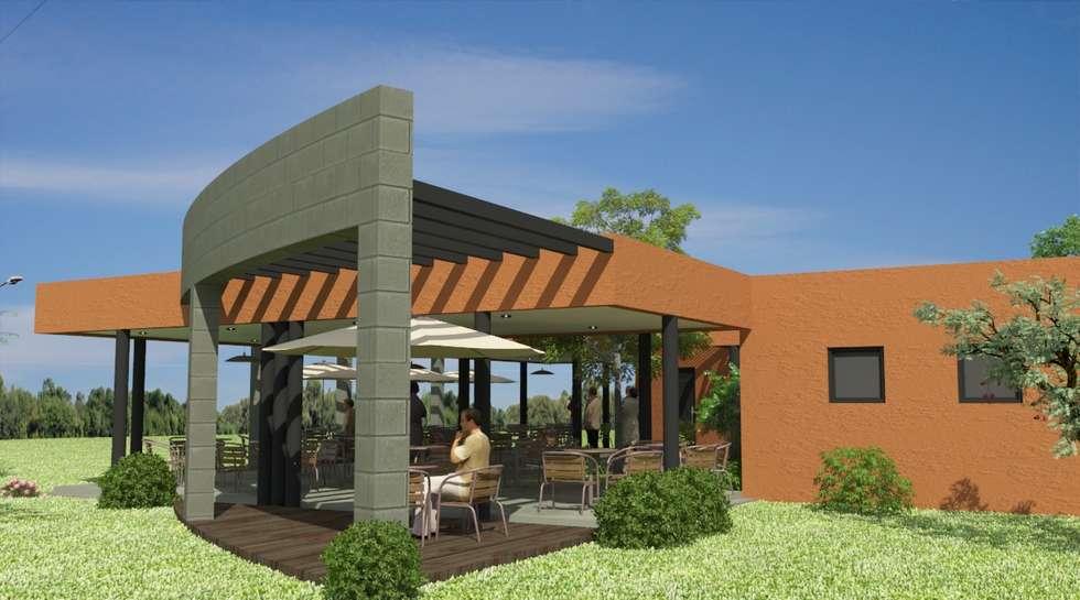Proyecto de Confitería y Vestuarios con Sala de Emergencias para un club: Jardines de estilo moderno por Valy
