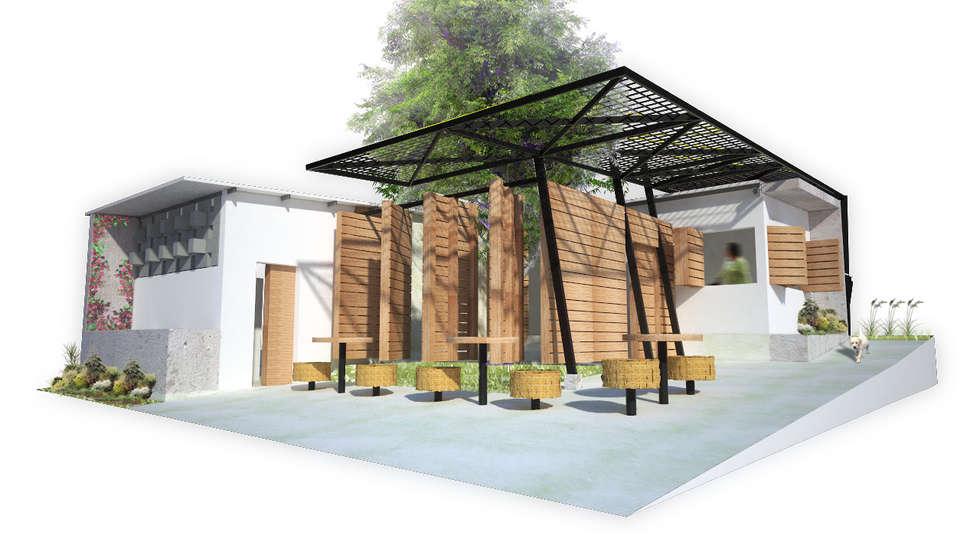 Perspectiva comedor social: Casas de estilo minimalista por Taller de Desarrollo Urbano