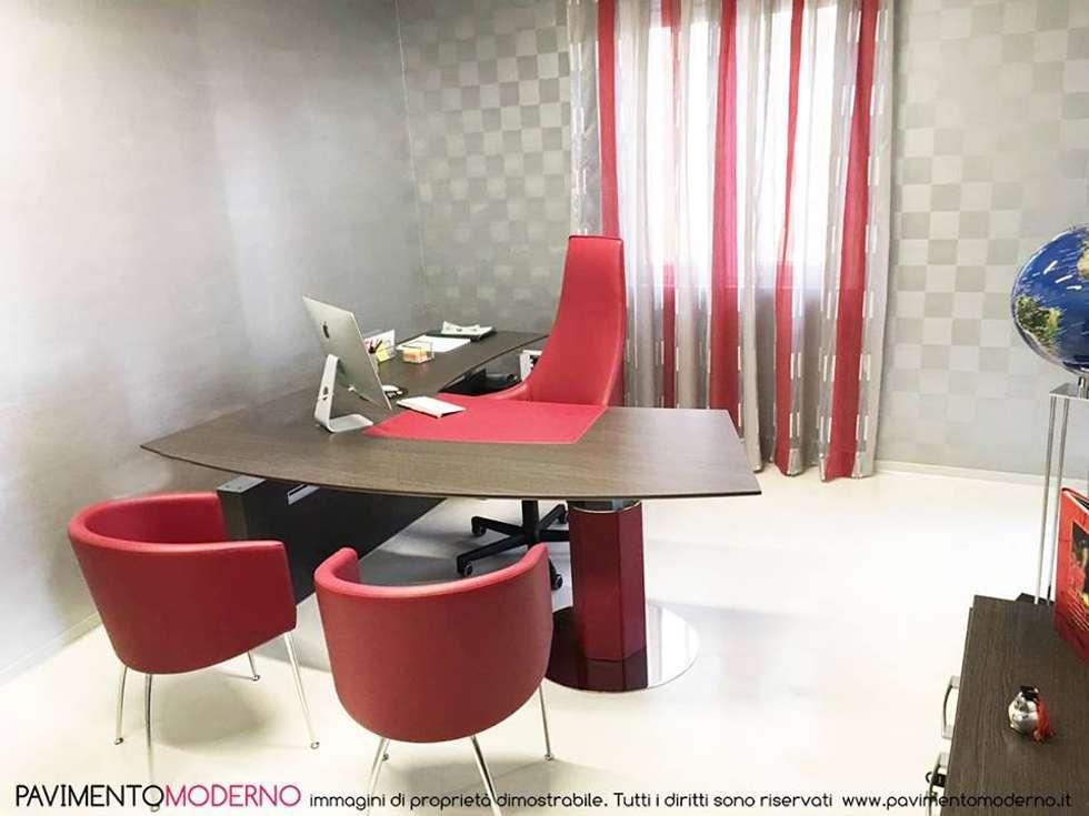 Ufficio Stile Moderno : Pavimento in resina bianca ufficio pareti pavimenti in stile in