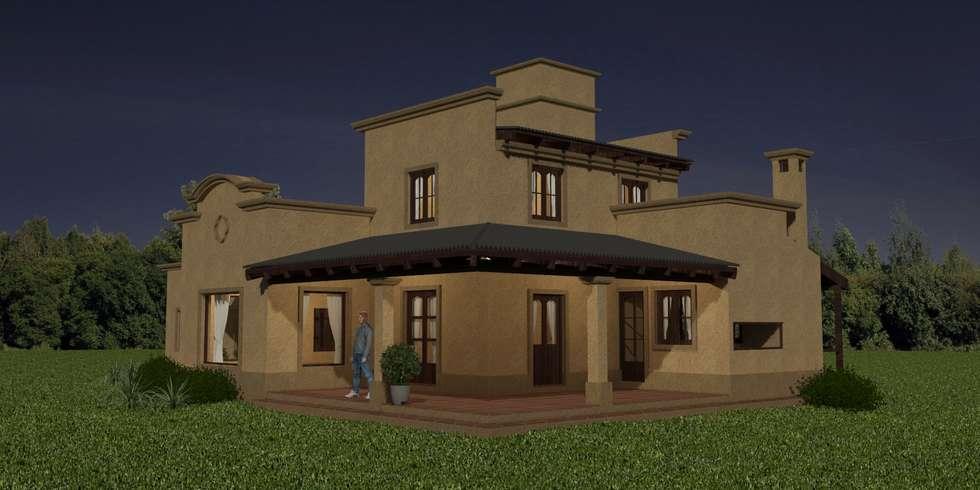 Proyecto de remodelación y ampliación de Vivienda unifamiliar: Casas de estilo colonial por Valy