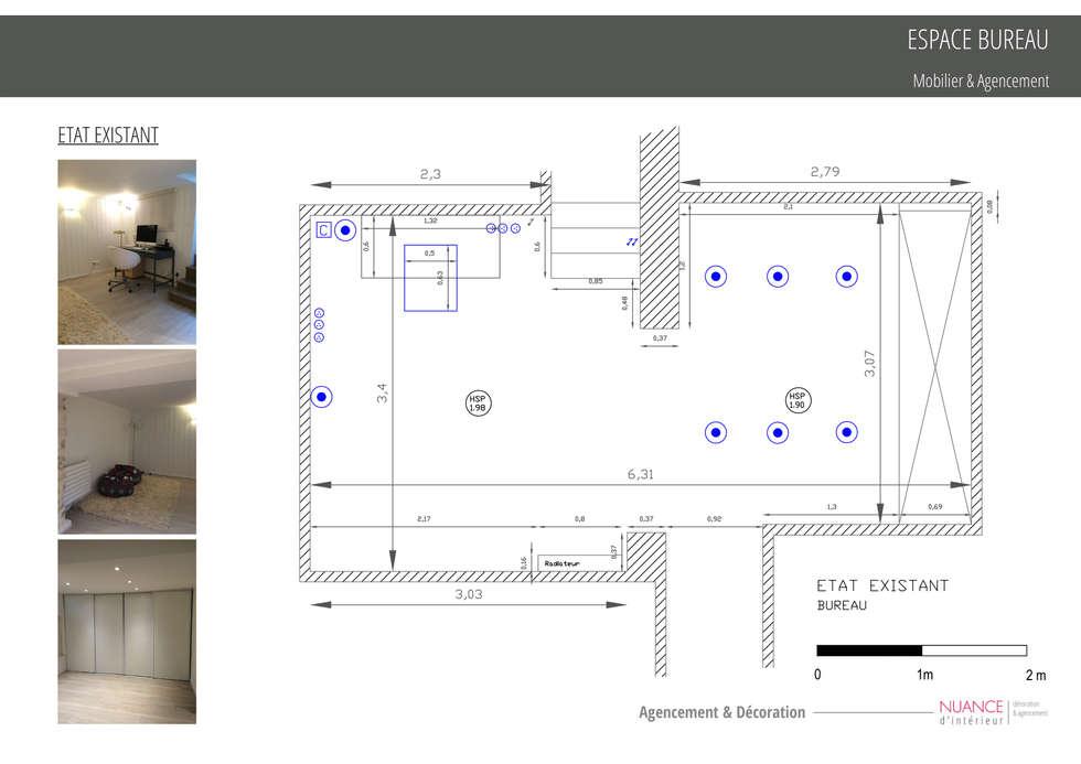 Espace Bureau: Bureau de style de style Classique par Nuance d'intérieur
