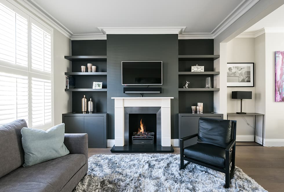 Disraeli Road, Putney: modern Living room by Grand Design London Ltd