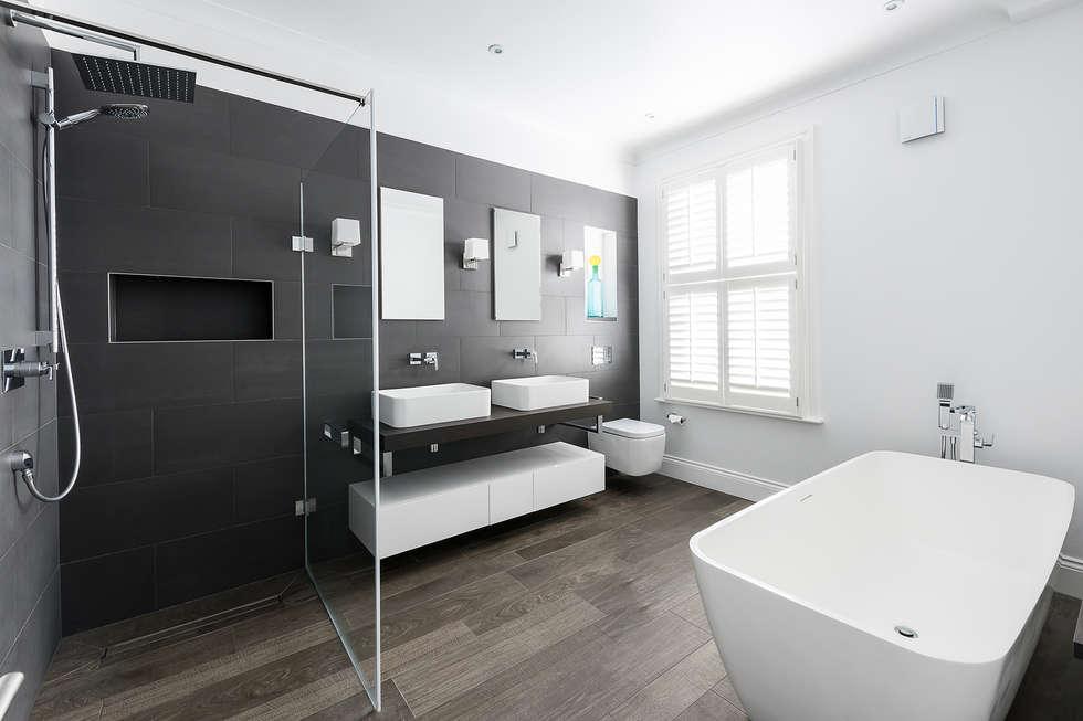Disraeli Road, Putney: minimalistic Bathroom by Grand Design London Ltd