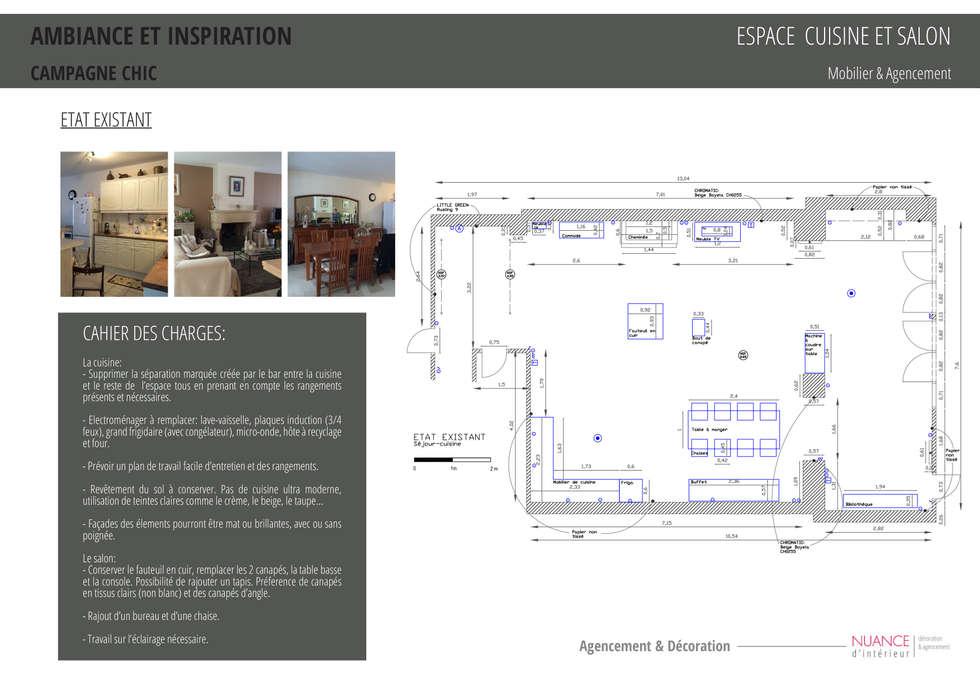 Appartement à Sartrouville: Cuisine de style de style Moderne par Nuance d'intérieur