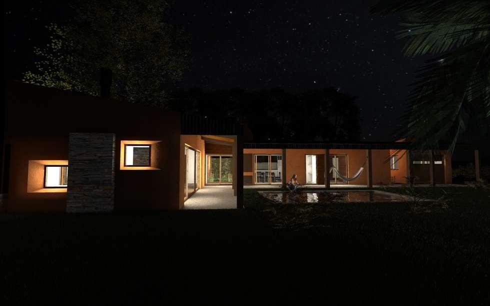 Propuesta Lateral Nocturna: Casas de estilo moderno por JIEarq