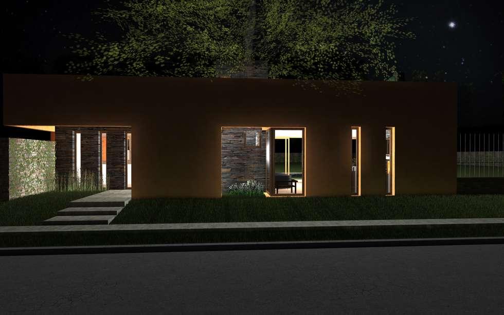 Propuesta Exterior Nocturna: Casas de estilo moderno por JIEarq
