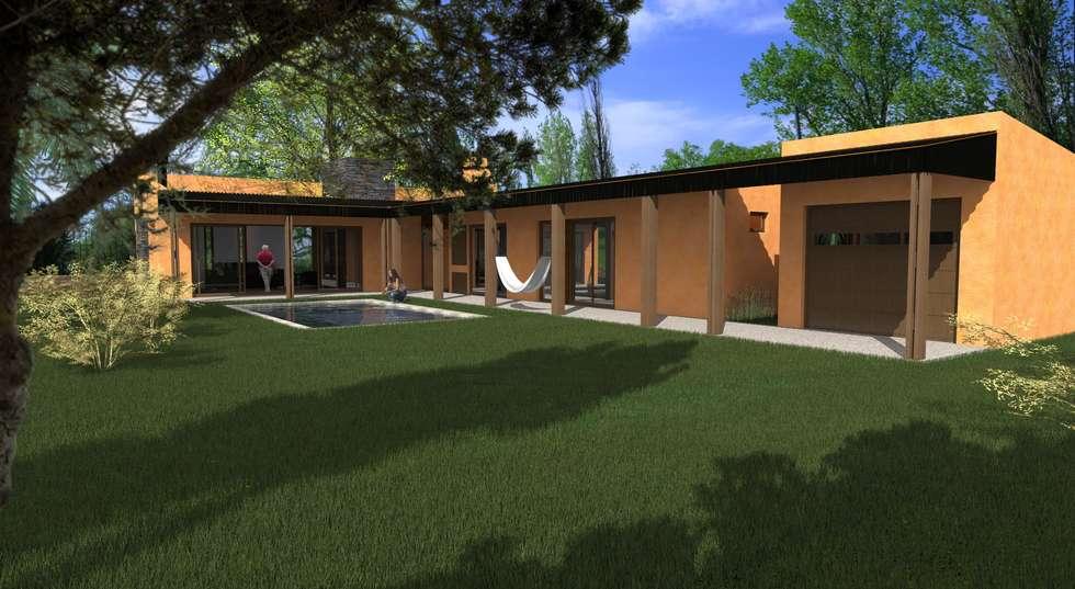 Propuesta Patio: Casas de estilo moderno por JIEarq