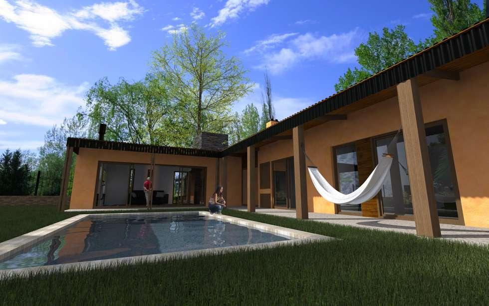 Propuesta Galería: Casas de estilo moderno por JIEarq