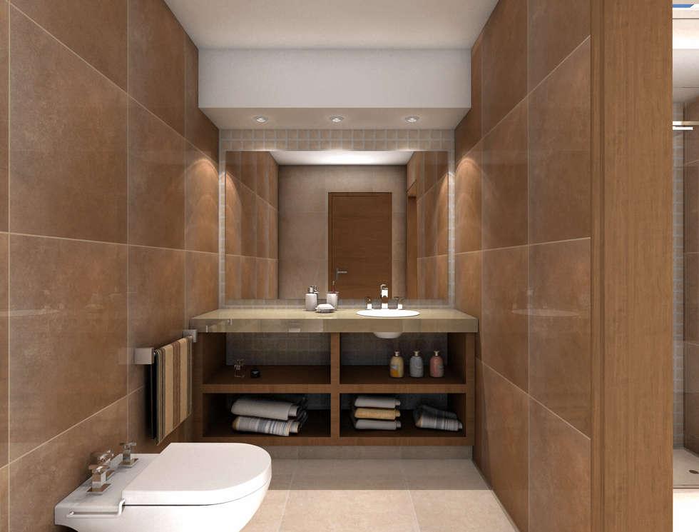 Baño: Baños de estilo moderno por JIEarq
