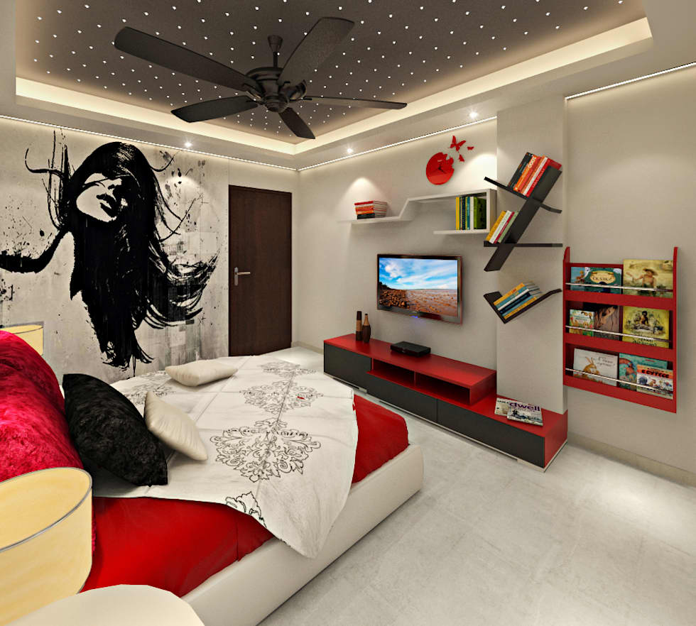 3BHK Flat Interior Design And Decorate At Alwar: Asian Nursery/kidu0027s Room  By Design