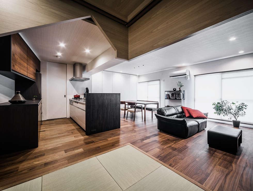 scandinavian Living room by 株式会社seki.design