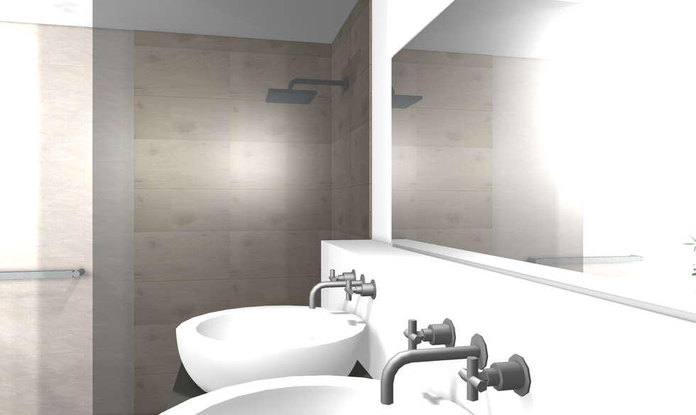 Modernes badezimmer 3d: minimalistische badezimmer von wohnly | homify