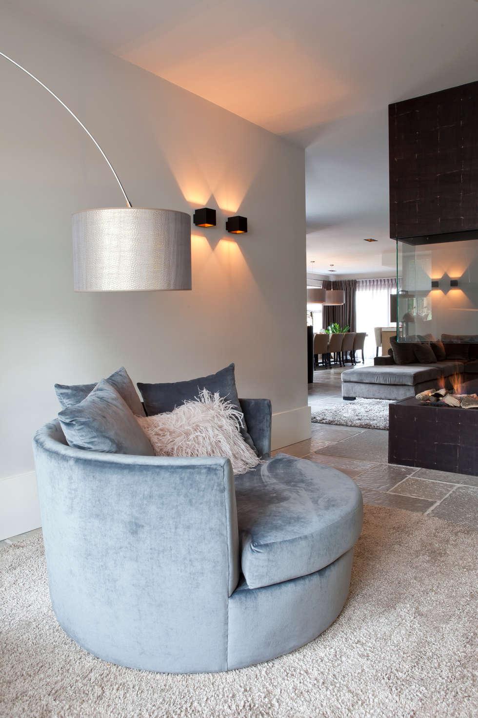 Mix landelijk modern: moderne woonkamer door ilse damhuis stijlvol ...