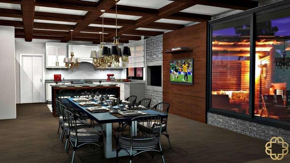 Cozinha Gourmet: Cozinhas clássicas por MV - Interiores e Iluminacao