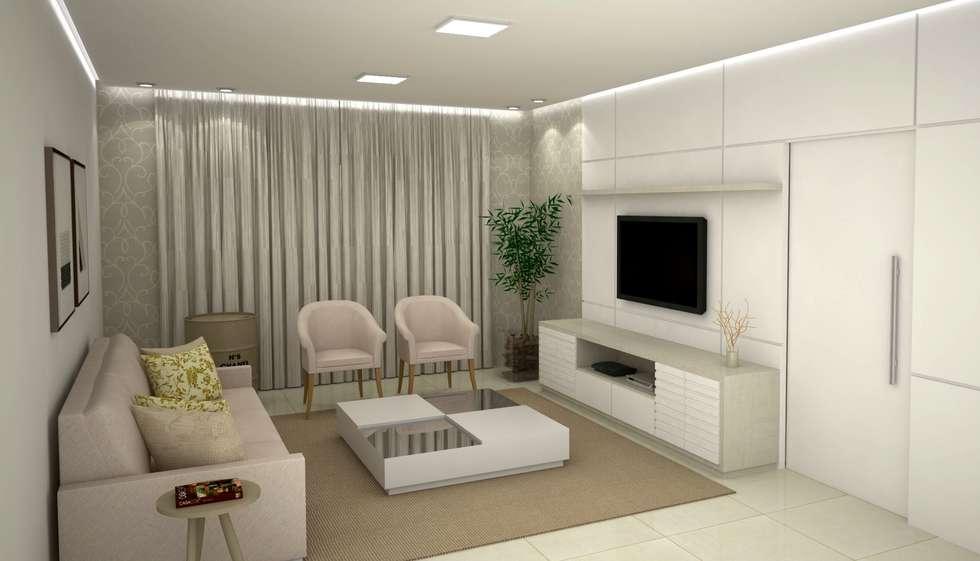 Fotos de decora o design de interiores e reformas homify for Salas modernas pequenas para apartamentos
