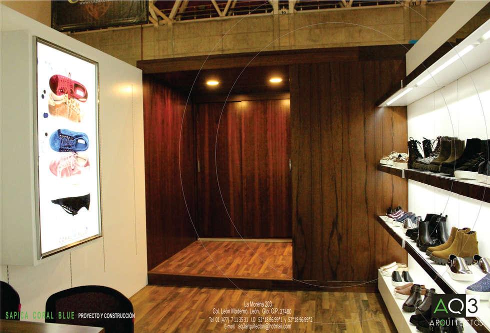 CORAL BLUE : Salas multimedia de estilo moderno por AQ3 Arquitectos