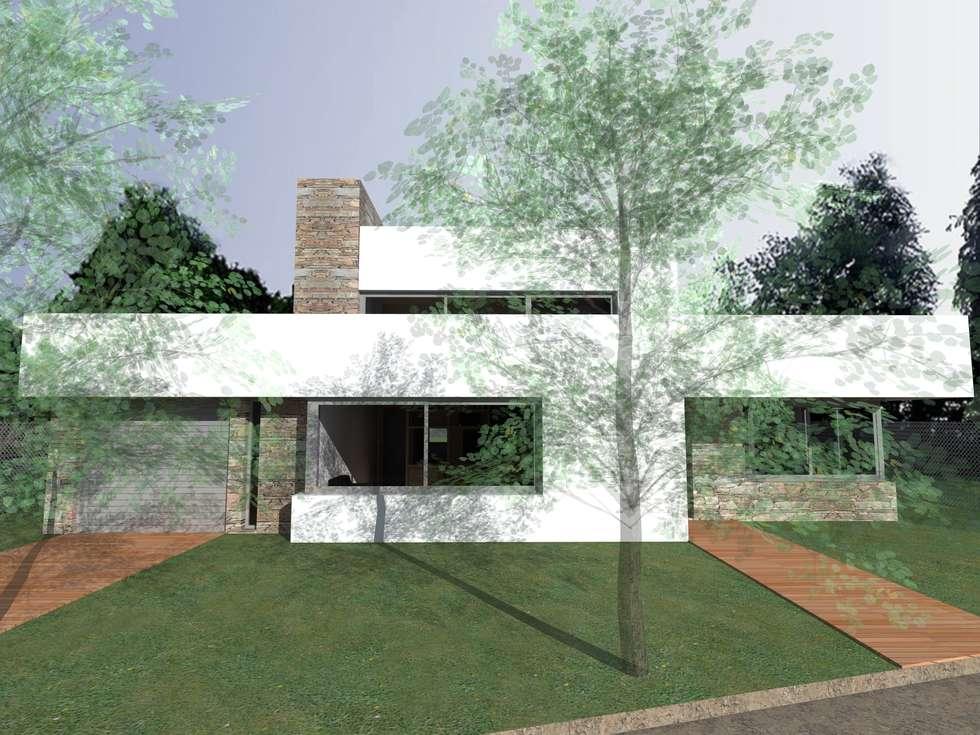 Casas de estilo moderno por JIEarq