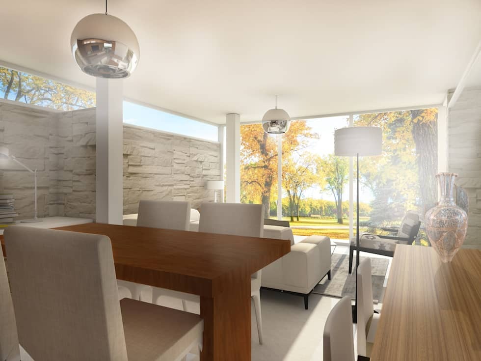 CASA CR: Casas de estilo moderno por Arquitecta Obadilla