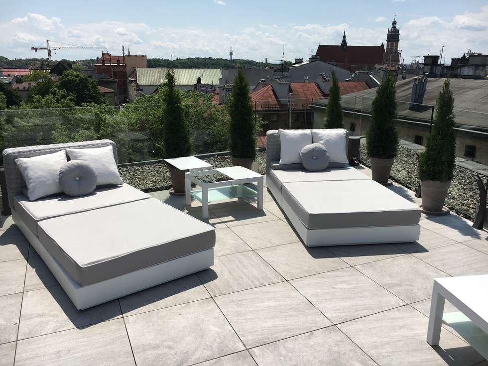 Modern upholstered outdoor sofa Tender:  Garden  by Viadurini.co.uk
