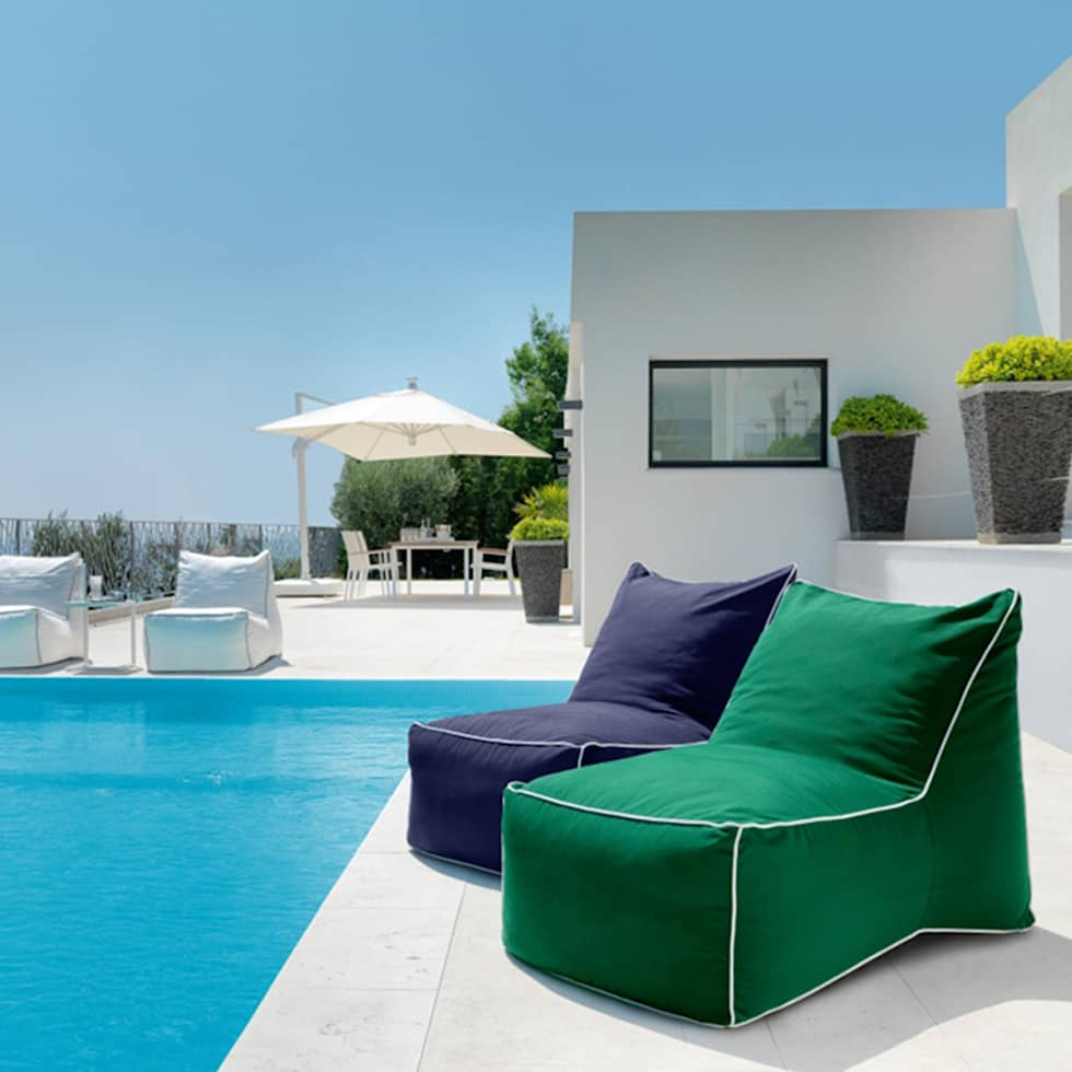 Modern outdoor seating pouf Sacco by Talenti:  Garden  by Viadurini.co.uk