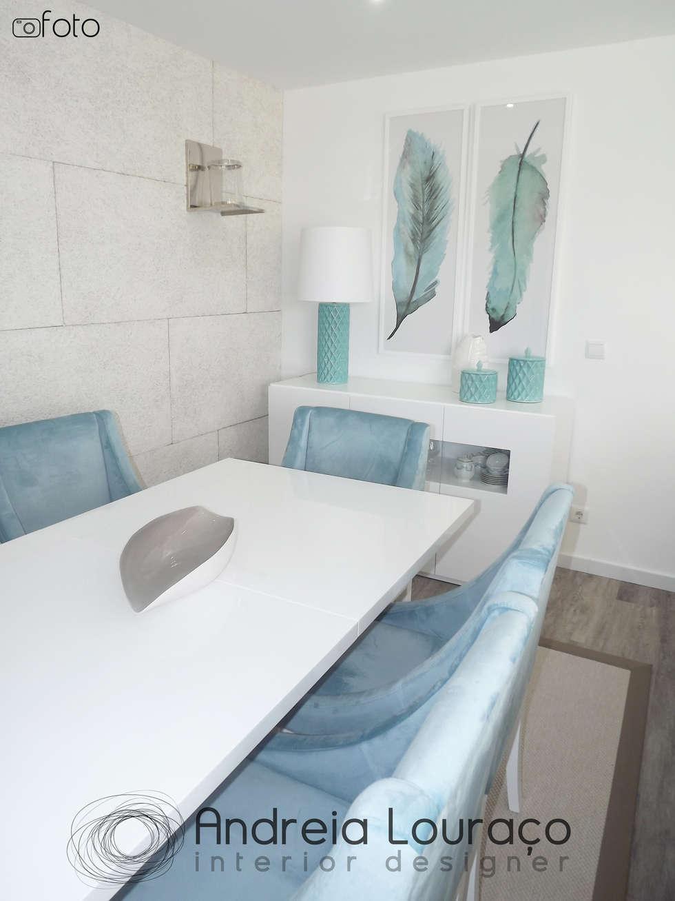 Fotos De Decora O Design De Interiores E Remodela Es Homify -> Decoracao Sala De Jantar Azul