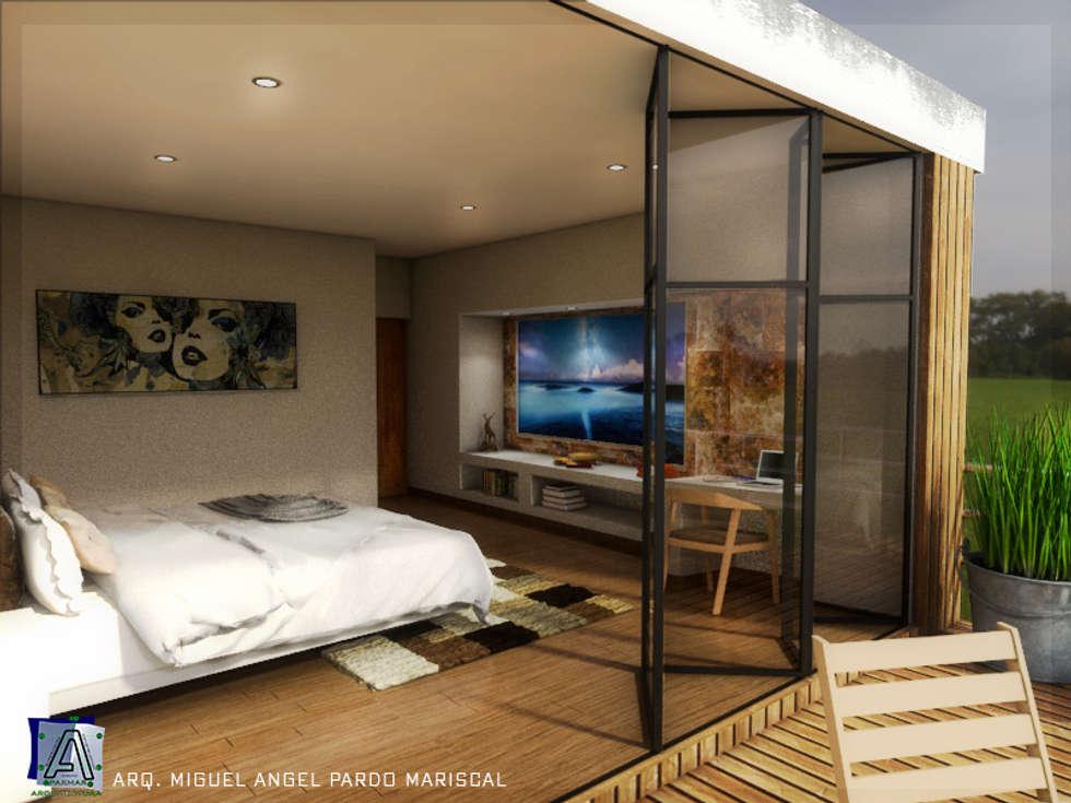Dormitorio: Recámaras de estilo moderno por PARMAR Arquitectura