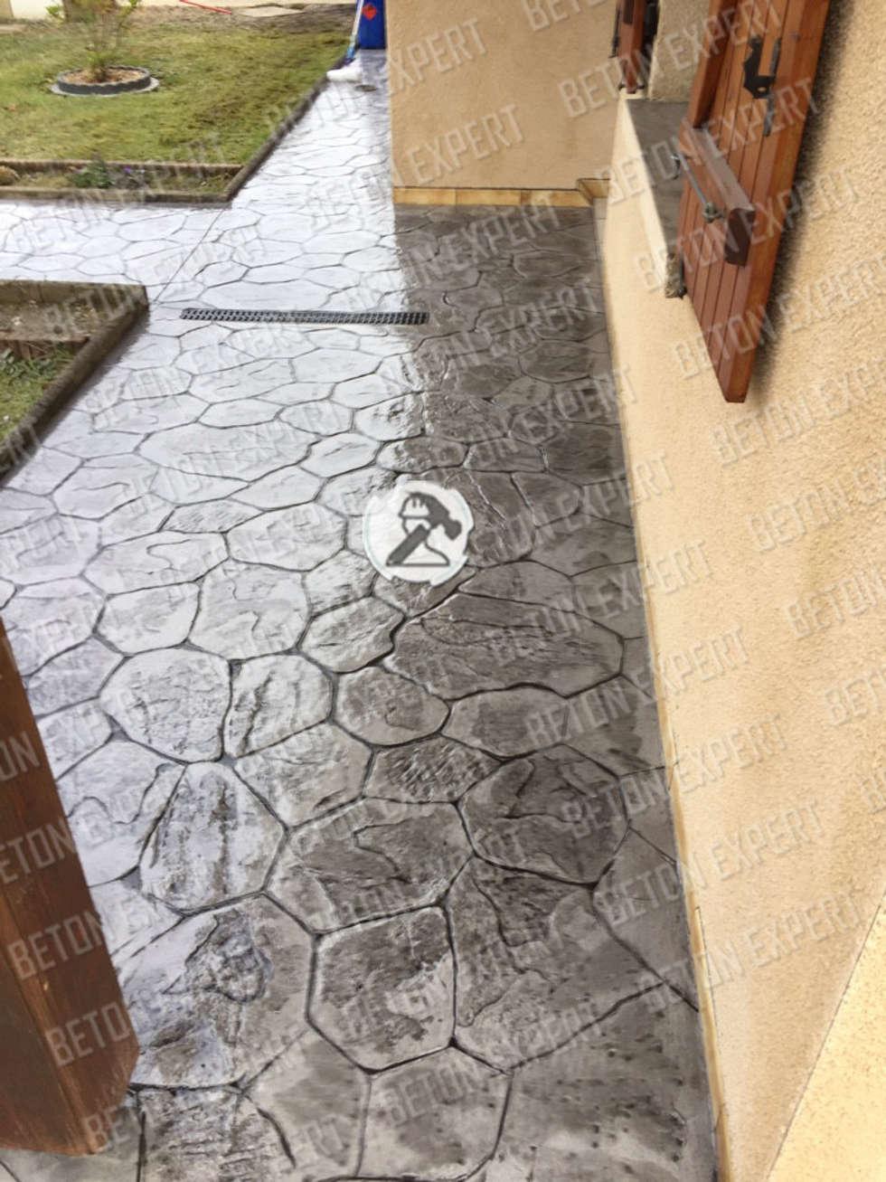 Pierre iregulierre: Murs de style  par Beton Expert