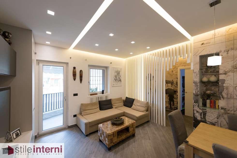 Interni Moderni Di Case : Casa de leva soggiorno in stile in stile moderno di stile interni