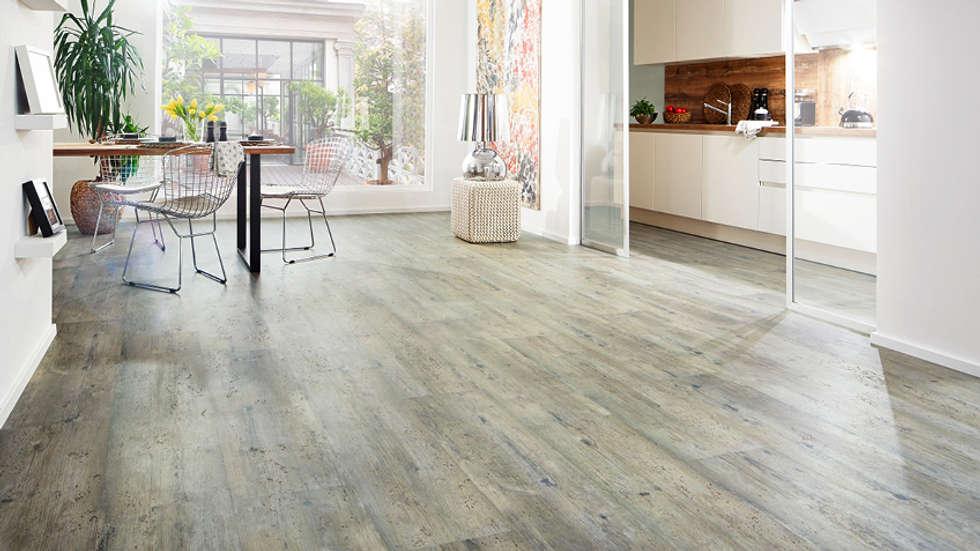 Korkboden grau  Wände & Boden Bilder: Design- Korkboden SAMOA Pinie grau antik ...