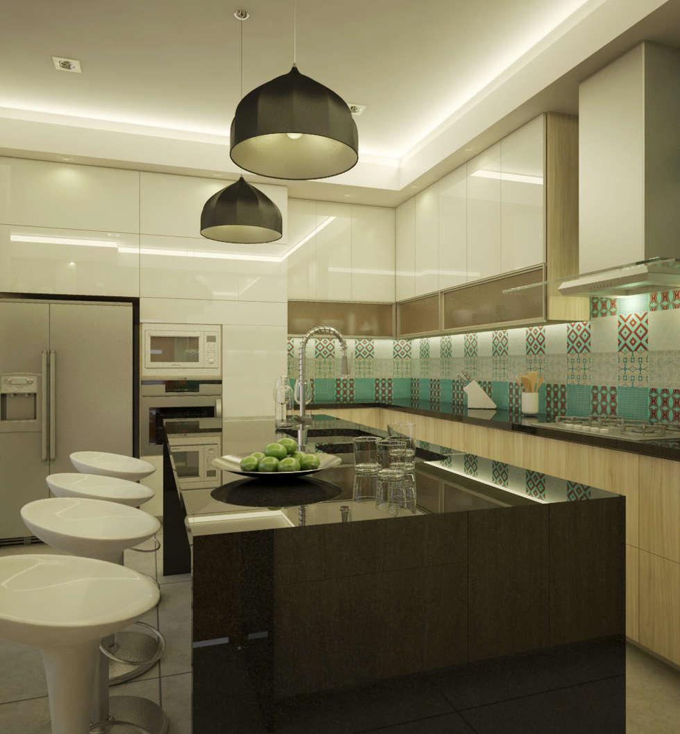 Isla de Cocina : Cocinas de estilo moderno por Spacio5