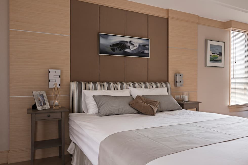 男孩房床頭主壁:  臥室 by 漢品室內設計