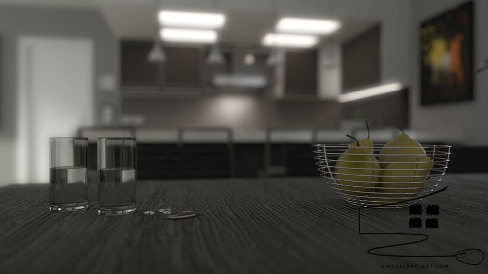 dettaglio: Cucina in stile in stile Moderno di virtual3dproject