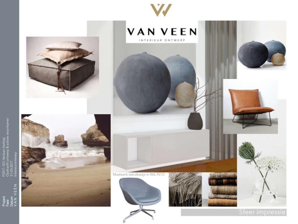 Van veen interior design: modern tarz oturma odası | homify