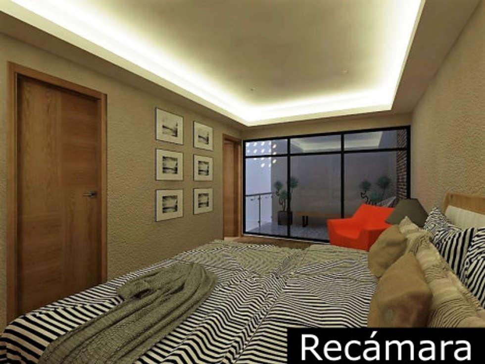 Sala: Recámaras de estilo moderno por Ingenieros y Arquitectos Continentes